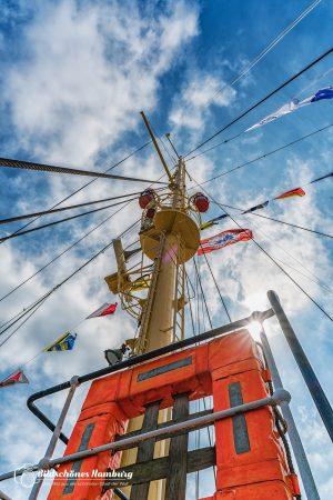 Feuerschiff Elbe 3 unter voller Beflaggung beim Hamburger Hafengeburtstag 2017