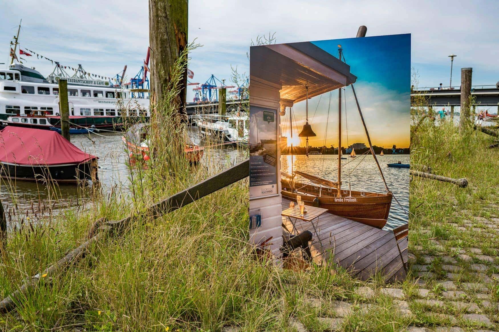 Hamburg Foto gedruckt auf Aludibond