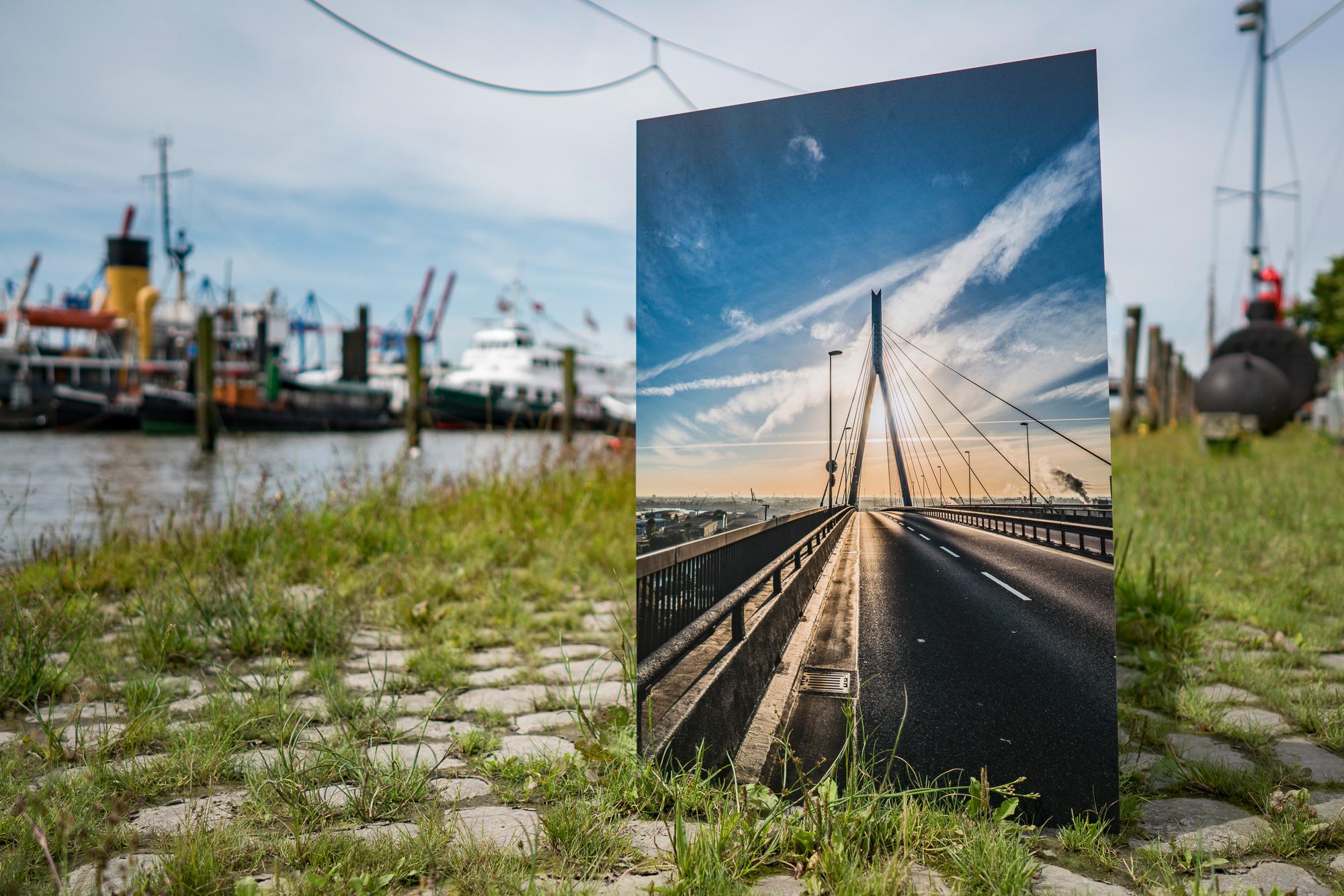 Hamburg Bilder gedruckt auf Aludibond mit matter Veredelung