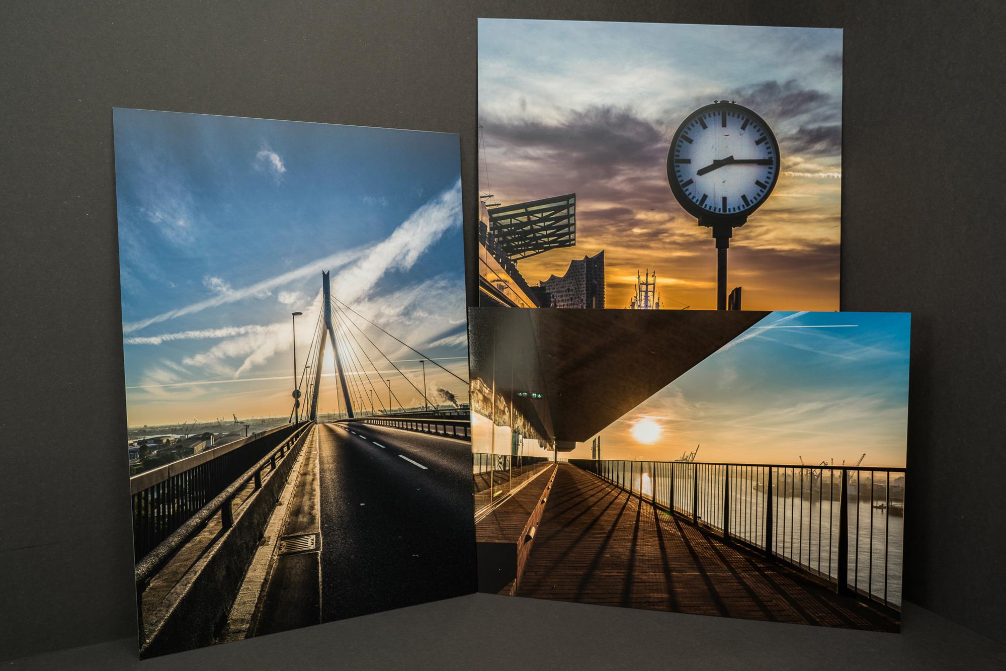 Hamburg Fotos Druck auf Aludibond mit mattem oder glänzender Veredelung