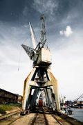 Hamburger Bilderdruck aus dem Hafenmuseum im Moody Urban Look